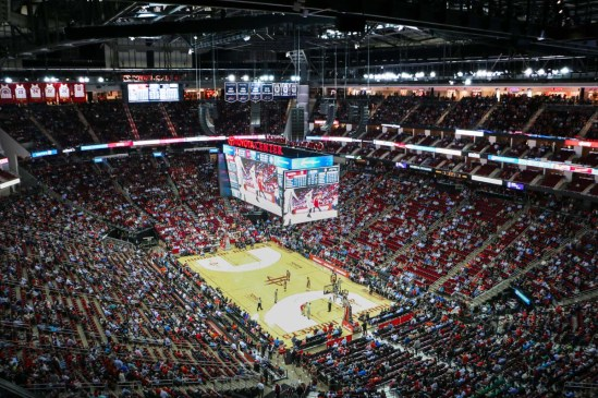 Toyota Center L-Acoustics install